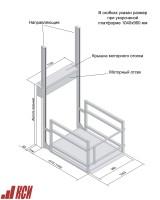 Габаритные размеры подъемника для инвалидов ПТУ-001